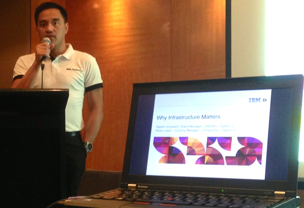 IBM Philippines country manager for System x Ricky Lopez