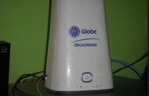 A WiMax modem from Globe being sold at an online marketplace