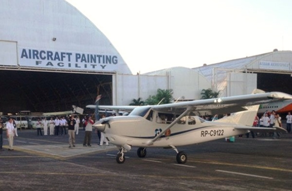 An aircraft carrying LiDAR equipment took off for its maiden flight in November last year at Clark Air Base to begin ?scanning? the Pampanga river basin, thus jumpstarting the country?s first 3D mapping program. (Photo credit: George Robert Valencia III of STII-DOST)