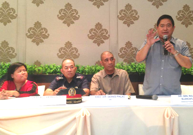Photo shows (from left) PARI chairman Marivic Benedicto, PNP chief case monitoring division police Sr. Supt. William Macavinta, OMB executive director Dennis Pinlac, and IPO director-general Ricardo Blancaflor