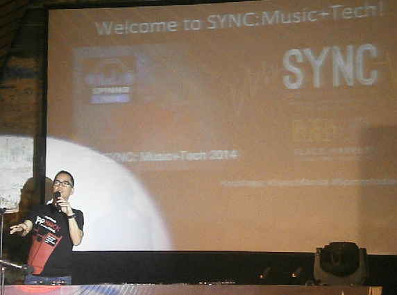 Jim Ayson of Smart's developer program leads the launch of the 'Spinnr Indie'