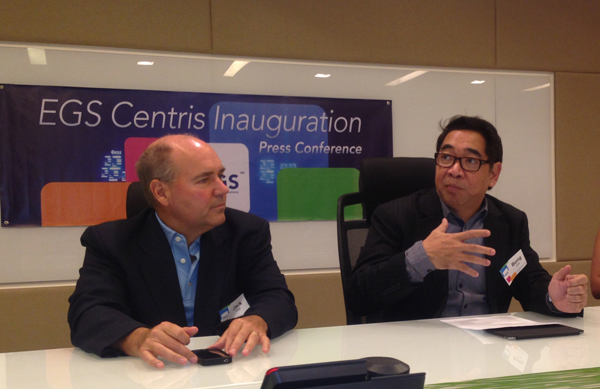EGS president and country head in the Philippines Bong Borja (right) and EGS chief operating officer Jack Jones