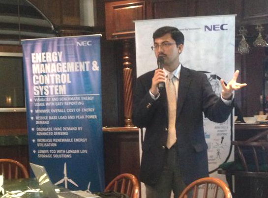 Mannish Kasliwal, director of regional business innovation and head of Smart Energy Business Incubation Center at NEC Asia Pacific