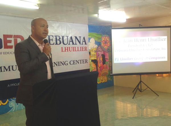 Cebuana Lhuillier president and CEO Jean Henri Lhuillier