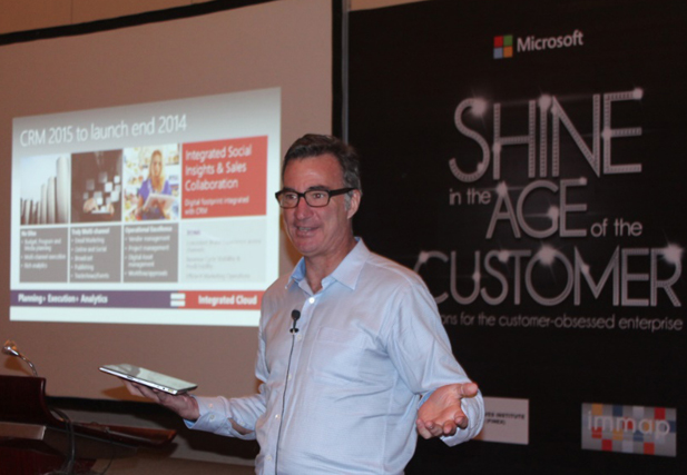 Microsoft Asia Pacific Dynamics lead Michael Strand during the launch event