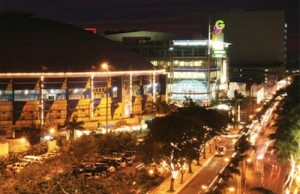 The famous Araneta Center in Quezon City.