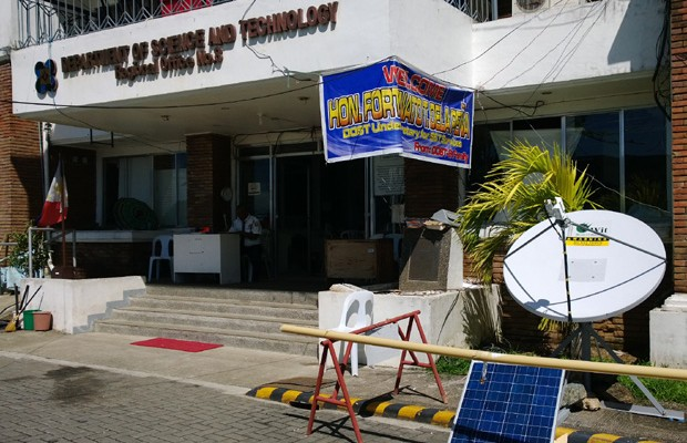 Photo shows the TV White Space radio antenna located at the DOST regional office in Leyte
