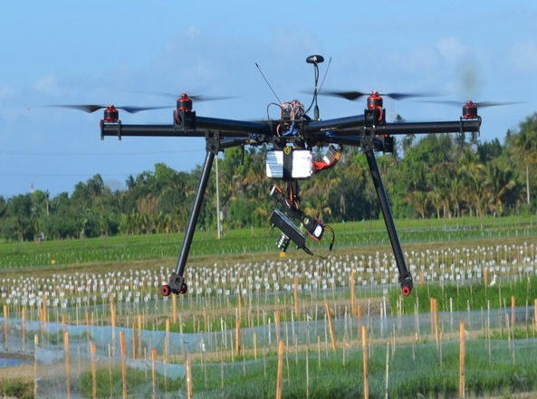 A remote-controlled drone being used by the International Rice Research Institute in Laguna. Photo credit: http://blog.worldagroforestry.org/