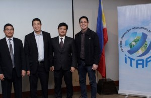 Photo shows (second from left) DTSI president and CEO Miguel C. Garcia with ITAP president Dondi Mapa, PLDT's Alpha CRM head John Gonzalez and other officers after the induction ceremony