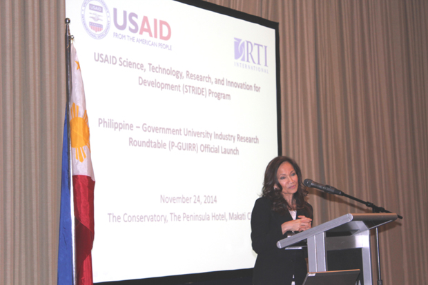 USAID mission director Gloria Steele addressed the multi-sector assembly and encouraged it to work together to improve the country?s innovation capacity