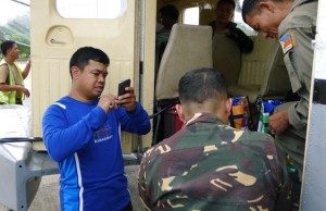 Deployment of satellite phones through Philippine Air Force at Mactan Airbase