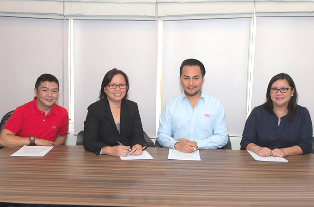 Photo shows (from left): Erwin Condenuevo, 2GoTravel customer interaction center manager; Au Soriano, PinoyTravel CEO and co-founder; Stephen Tagud, 2GoTravel chief commercial officer; and Grace Golez, 2GoTravel AVP for retail sales