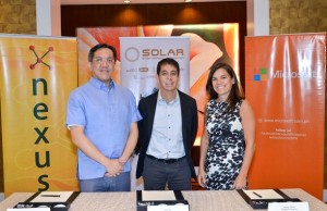 Photo shows (from left) Nexus Technologies president Juan Chua, Solar chief technology officer Ralph Roy, and Microsoft Philippines director for small and midmarket solutions and partners Dianna Tibbs
