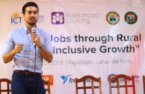 Freelancer.com regional director for South East Asia Evan Tan speaking during the event