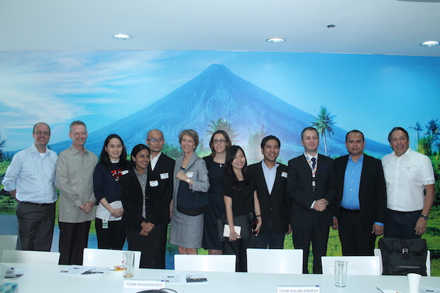 Members of the SAP Social Sabbatical with executives of the companies they helped