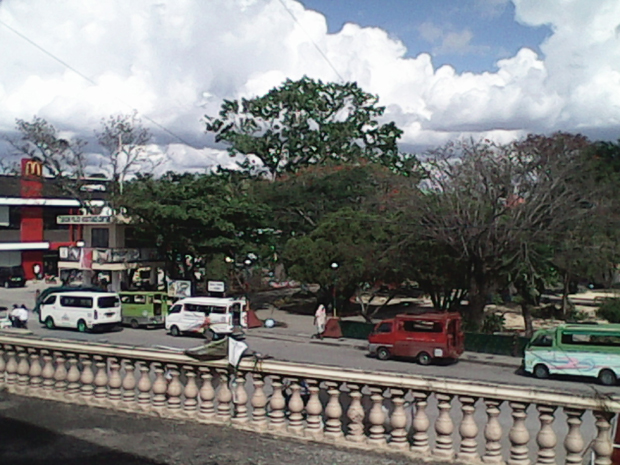 The Tubigon town plaza as seen from the Tubigon Cultural Center, where the WiFi access point for the Free WiFi Pilot is located