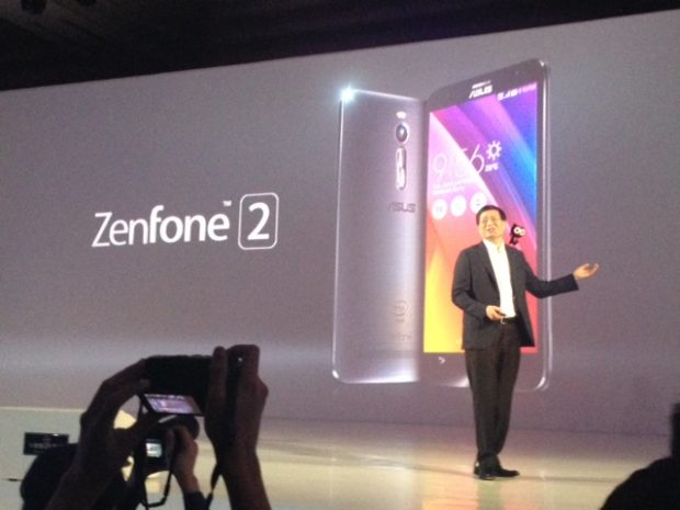 Asus CEO Jerry Shen leads the launch of the Zenfone 2 in Jakarta, Indonesia