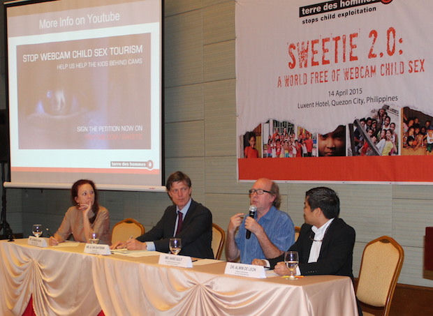 Photo shows (from left) Leonarda Kling, regional director for Southeast Asia, AJ Van Santbrink, executive director for Terre des Hommes Netherlands, Hans Guijt, head for special programs and campaigns, and Dr. Alwin De Leon, Philippine country manager at Terre des Hommes Netherlands