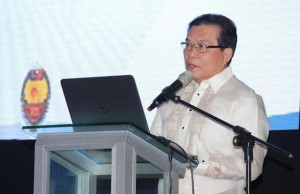 NBI director Virgilio Mendez speaks during the launch of the new system