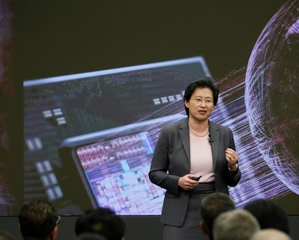AMD president and CEO Lisa Su speaking during the 2015 Financial Analyst Day