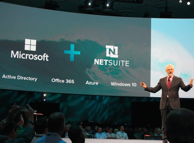 NetSuite CEO Zach Nelson discussing his company's collaboration with Microsoft