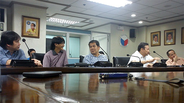Representatives of local telcos during the technical working group meeting at the NTC office in Quezon City