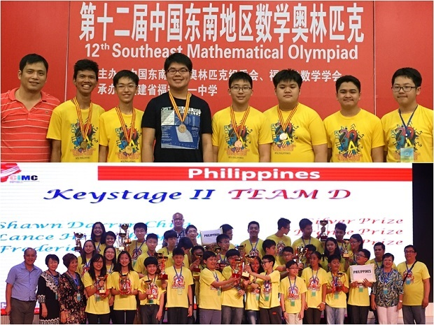 The country?s medalists with their team leaders in the 12th China Southeast Mathematical Olympiad (top) and 2015 China International Mathematics Competition (bottom). Photos credit: MTG