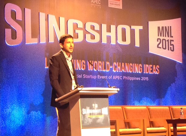 Uber Southeast Asia GM Michael Brown during the recent SlingShot MNL startup confab