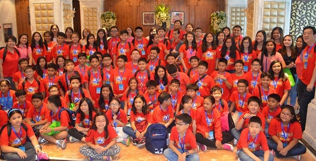 The Philippine delegation at the 2015 China Primary Math Olympiad. Photo credit: MTG