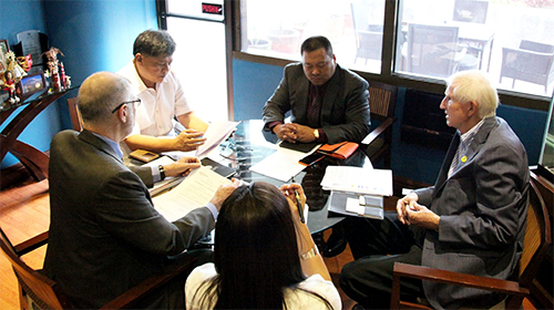 In this file photo, representatives from the Joint Foreign Chambers of the Philippines meet with Sen. JV Ejercito to discuss legislative priority measures of the chambers concerning the economic policies of the country