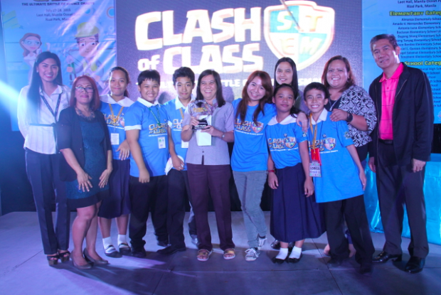 Pasay City East High School coached by chemist Andrea Adorna triumphed in the high school level