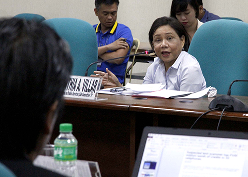 Sen. Cynthia Villar during the hearing
