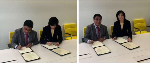 Signing the cooperation agreement are Atty. Allan B. Gepty, deputy director general of IPOPHL and Michelle K. Lee, undersecretary of commerce for IP of USPTO