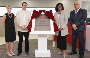 Top company executives unveil the ADP marker