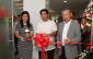 "Photo shows during the inauguration (from left): Ma. Luisa Verga, assistant sales manager of Iontech, Raul ""Cricket"" Santiago, president of Fujitsu Philippines, Akira Ishii,  president of Sanyo Plastic Philippines"