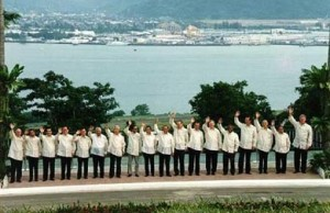 The Philippines hosted the APEC summit in 1996