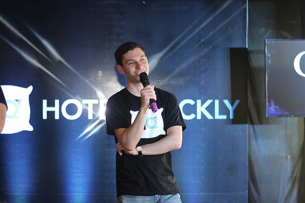 Raphael Cohen, chief sales officer and co-founder of HotelQuickly, during the media launch of the mobile app