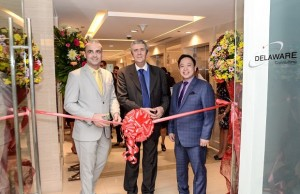 "Photo shows (from left to right): Delaware Consulting partner and managing director Christophe Derdeyn, Belgian ambassador to the Philippines Roland Van Remoortele, and Arnel ""Bon"" de Vera, country manager for Delaware Philippines"