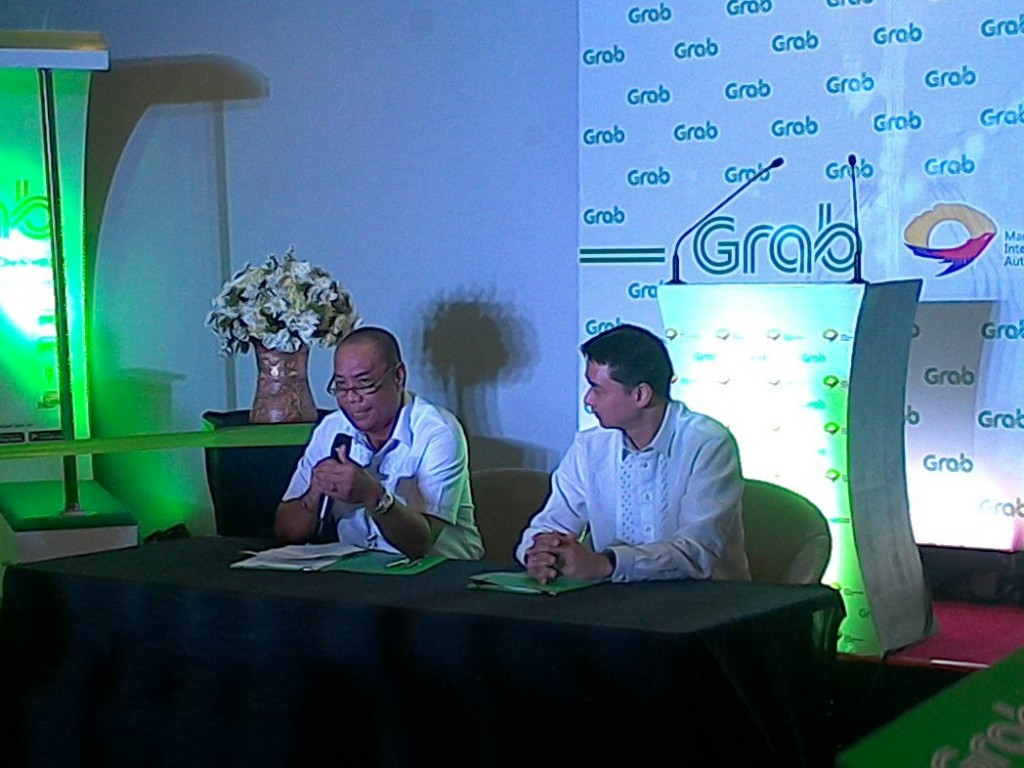 Grab and MIAA officials formally announced on Thursday the availability of GrabCar in NAIA terminals