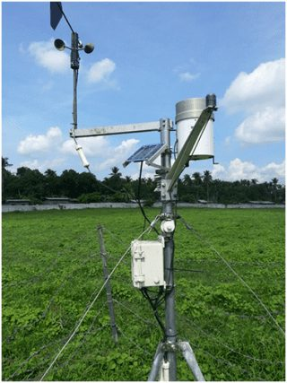 An automatic weather station installed and used by SARAI (Photo from UPLB)