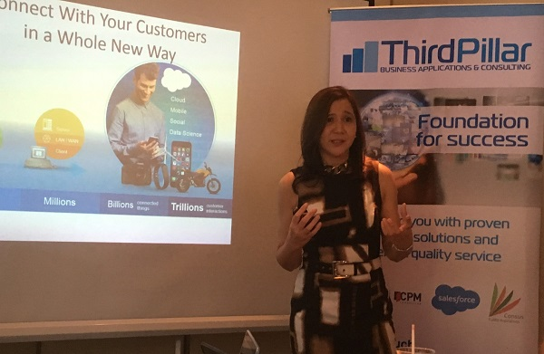 Third Pillar co-founder and CEO Jenny Ligones speaking during a recent press briefing