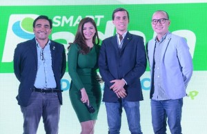 Top PayMaya execs with new brand ambassador Angel Locsin