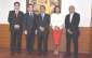 The Philippine Competition Commission officials, led by chair Arsenio Balisacan (middle)
