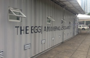 The EGG generates its own power through solar panels found on top of its roof and collects rainwater that can be used to irrigate the land it is on or to be filtered as drinking water
