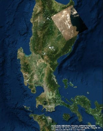 Picture shows an image of the province of Isabela, taken by the medium field-of-view color camera (MFC), captured on May 17. The test image captures a portion of the coastal seaboard of the province, which includes parts of the municipalities of Maconacon, Divilacan and Palanan
