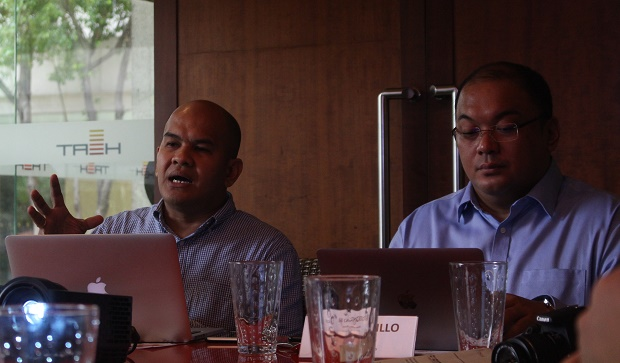 Shown in photo are Fortinet senior consultant Nap Castillo (left) and Fortinet Philippines country manager Jeff Castillo