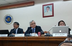 The National Privacy Commission, composed of (from left) deputy commissioner Dondi Mapa, commissioner Raymond Liboro, and deputy commissioner Ivy Patdu