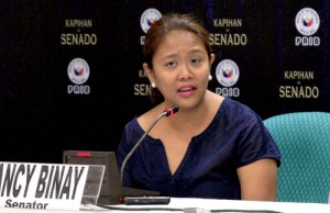 Sen. Nancy Binay (Credit: senate.gov.ph)