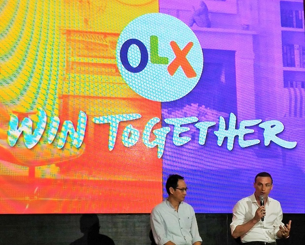 OLX Philippines GM Giancarlo Bonsel (right) with chief marketing officer Cris Concepcion