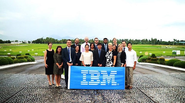 The IBM Corporate Service Corps (CSC) at the IRRI compound in Los Banos, Laguna. (Credit: IBM Philippines)